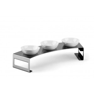 LF LUNCH L SMALL CONDIMENT SERVING STAND IN STAINLESS STEEL