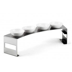LF LUNCH LARGE CONDIMENT STAND IN STAINLESS STEEL