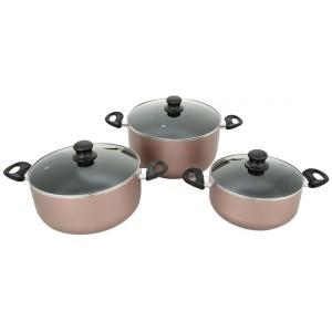 Pyrex Argento Aluminum 6 Piece Cooking Set/ Gold
