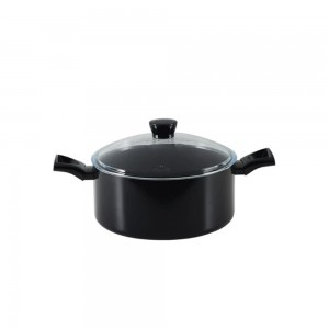 Pyrex a Black Diamond Non-Stick Aluminium Stewpot 20 cm W/ Glass Lid