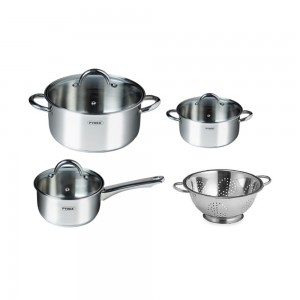 a Pyrex Master Set of 7 stainless steel