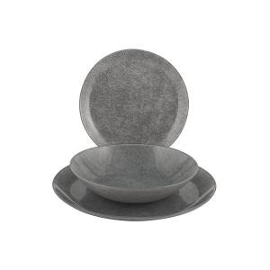 LUMINARC - Loft Stony Grey Set Plates 18 Pcs