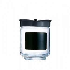 Luminarc Storage Glass Jar - transparent plastic Rack Script - 28 cl