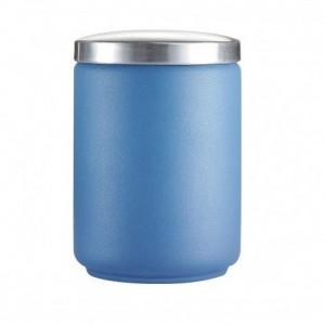Luminarc storage Glass jar - Loft Industrial - Blue glass with lid 1 L
