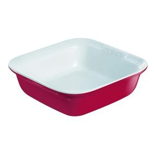 Pyrex Ceramic  Impression Square Roaster 24x24cm Red  s50