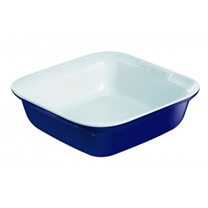 Pyrex Ceramic  Impression Square Roaster 24x24cm Blue s50