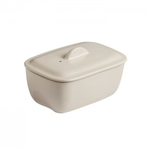Pyrex Form-terrin CURVES with lid White 17x10 cm s50