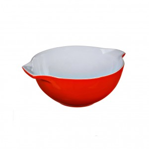 Pyrex Curves Orange Ceramic Multi Purpose bowl red 0.5 L s50