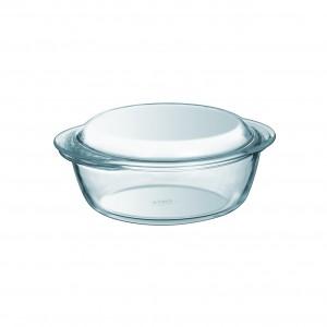 Pyrex a Round Casserole W/ Lid clear glass 1.4L