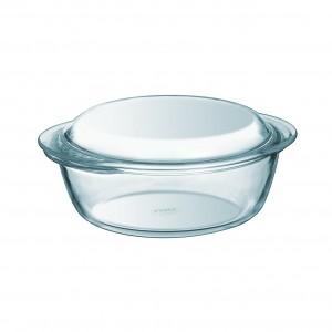 Pyrex a Round Casserole W/ Lid clear glass 2.1L