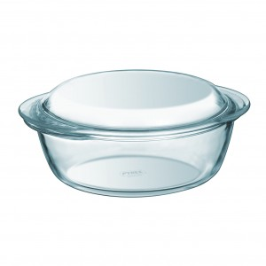 Pyrex a Round Casserole W/ Lid clear glass 3.5 L