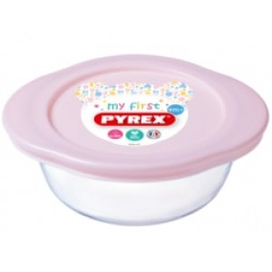 Pyrex My First Square dish with lid Baby PINK
