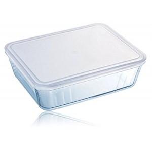Pyrex Cook & Freeze Glass rectangular Dish with plastic lid 2.6L