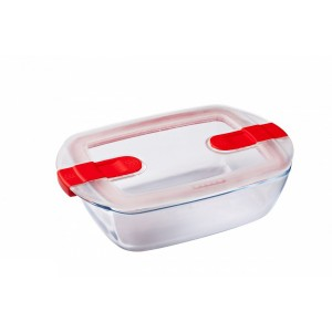 Pyrex Cook & Heat Rectangular Clear Glass container 1.1 L  Smart Lid