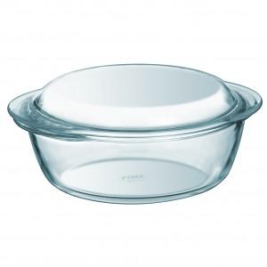 Pyrex a Round Casserole W/ Lid clear glass 4.9 L
