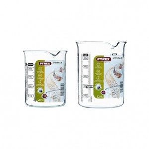 Pyrex a Kitchen Lab Measure And Mix Beaker set of 2 Pcs (0.25, 0.50L)