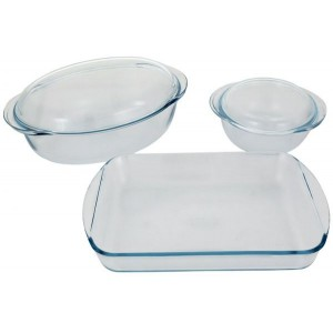 Pyrex Classic 5 Piece Glass Bake And Serve Dishes Set, Clear