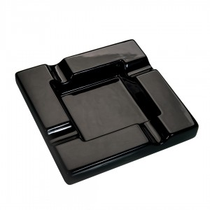 Cigar Ashtray Ceramic Black