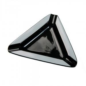 Cigar Ashtray Triangular Ceramic black and wight