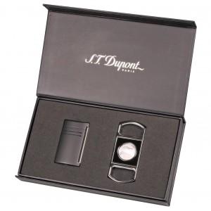 Aansteker Maxijet Black en Sigarenknipper S.T. Dupont Gift Set