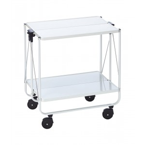 Leifheit Wheeled serving Side-Cart White