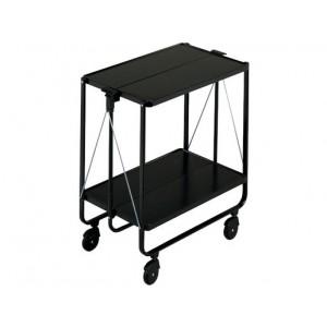 Leifheit Wheeled serving Side-Cart Black
