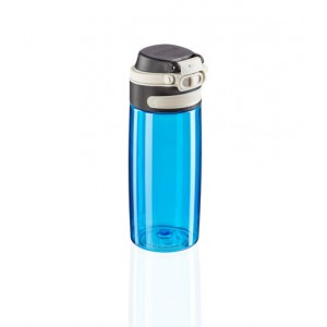 Leifheit Flip Drinking Bottle Tritan 550 ml Light Blue