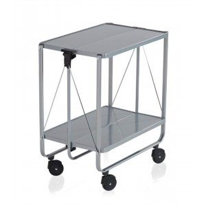 Leifheit Wheeled Serving Side-Cart Silver