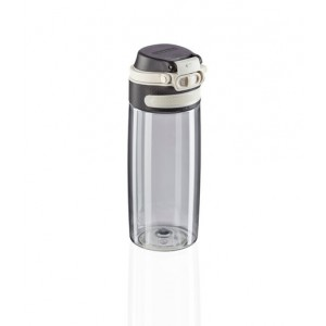 Leifheit Flip Drinking Bottle Tritan 550 Ml Silver